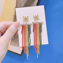 The new 2019 han edition snow is pure and fresh delicate party decent fashionable woman earrings adorn article