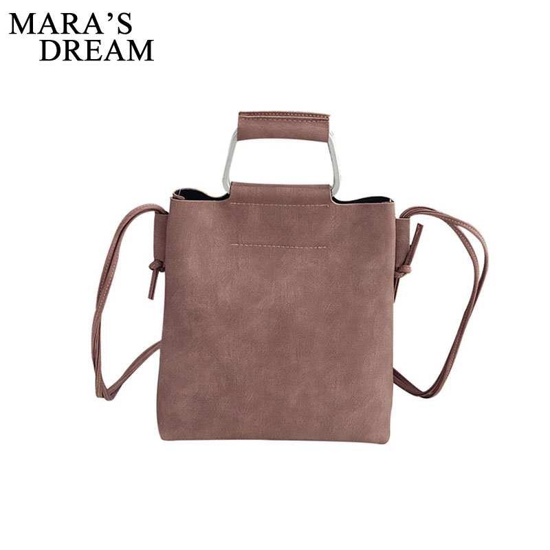 Mara's Dream Vintage PU Leather Female Handbag New Fashion Messenger Bag Women Shoulder Bag Larger Top-Handle Bags Travel Ba