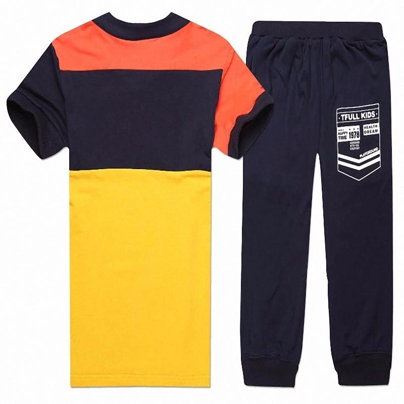 boy sport stripe clothing set (7)