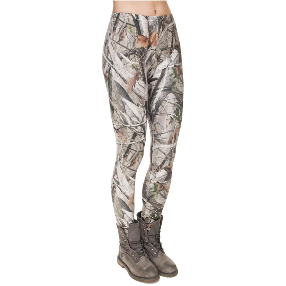 2017 Women Leggings 3D Printing CAMO TREES Elastic jeggings Shiny legins Girls Sexy Leggins Tayt Fitness Leggins Calzas Mujer