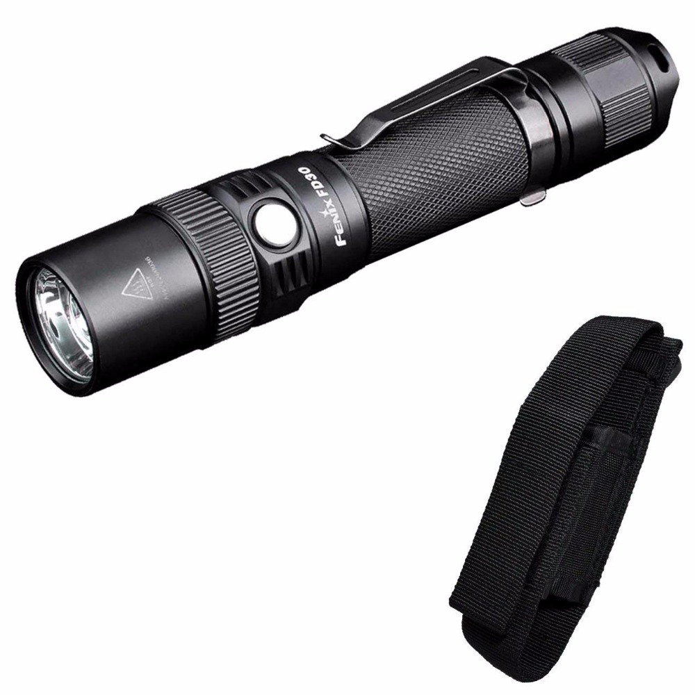 Fenix FD30 900 Lumen Zoomable Tactical LED Flashlight with Holster fenix hp25r 1000 lumen headlamp rechargeable led flashlight