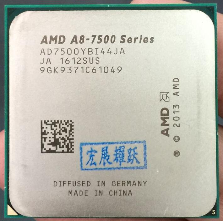 AMD A8-Series A8-7500 A8 7500  AMD 7500   FM2+ APU Quad-Core CPU  100% working properly Desktop Processor