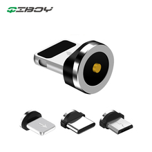 Round Magnetic Cable Connector Plug Type C Micro USB Fast Charger Charging Cable Plug 8 pin 2.4A Quick Charging Plugs For iPhone lemo connector 8 pin plug fhj 2b 308 clld camera alexa mini power plugs d tap b type plug turn