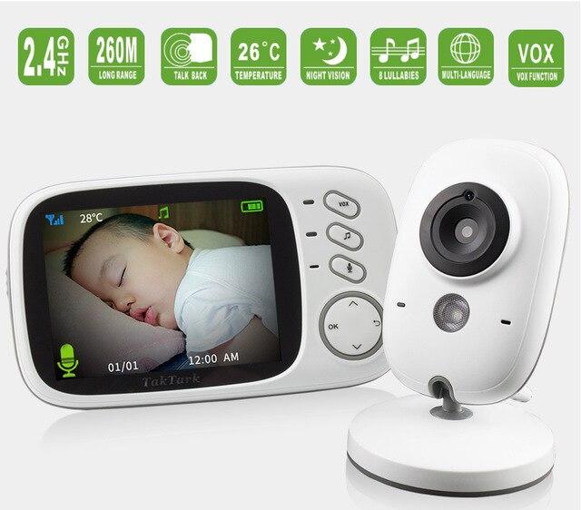 Moniteur Bébé Babyphone Caméra de Vidéo Surveillance Numérique Sans Fil-01