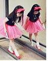 2017 vestidos de malha de Verão Princesa rendas temperamento Coreano qualidade meninas crianças roupas para 2-7 Anos SE DIVERTIR meninas