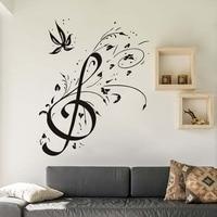 Decoración de la pared de BRICOLAJE Home Decor Decal Vinyl Notas Musicales TV Mural Etiqueta de La Pared de Fondo de Papel Tapiz Para Sala de estar Desprendible