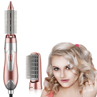 2018 New Professional Hair Dryer Multifunctional Styling Tools Hair Blower 2 In 1 Comb Brush Hairdressing Equipment Set