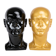 Male High quality realistic Mannequin Manikin PVC dummy Head Model for headphones Glasses Hat Wig Display Stand