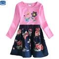 Novatx H6241 новый дизайн весна осень с длинным рукавом вышивка цветочные горошек девушка причинно платье nova детей, маленьких девочек, платья