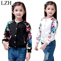 LZH Girls Jacket Coat 2017 Spring Fashion Floral Print Sportswear Baseball Jacket For Kids Girls Outerwear Coat Childre Clothes