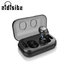 AIDISITE Magnetic Bluetooth Earphone With Ear hook Wireless Headphone  Noise Reduction With Mic Sport Bluetooth Headset original xiaomi bluetooth collar earphone sport wireless bluetooth headset in ear magnetic mic play dual dynamic headphone