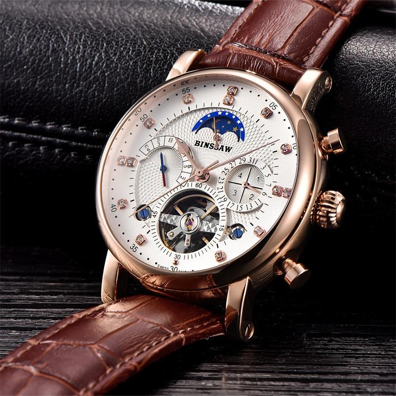 Najlepsze marki zegarków mechanicznych BINSSAW 2018 nowych zegarków - Męskie zegarki - Zdjęcie 5