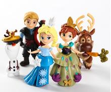 5pcs/set 6-9cm Movie Princess Anna Elsa Kristoff Sven Olaf action figure toys kids toys christmas gift
