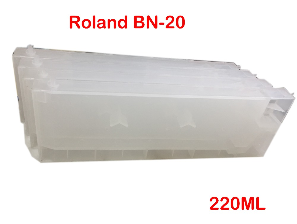 BN20 Refillable Ink Cartridge For Roland VersaStudio BN-20 Printer Refill 220ML Eco Solvent Ink цена
