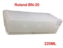 BN20 Refillable Ink Cartridge For Roland VersaStudio BN-20 Printer Refill 220ML Eco Solvent