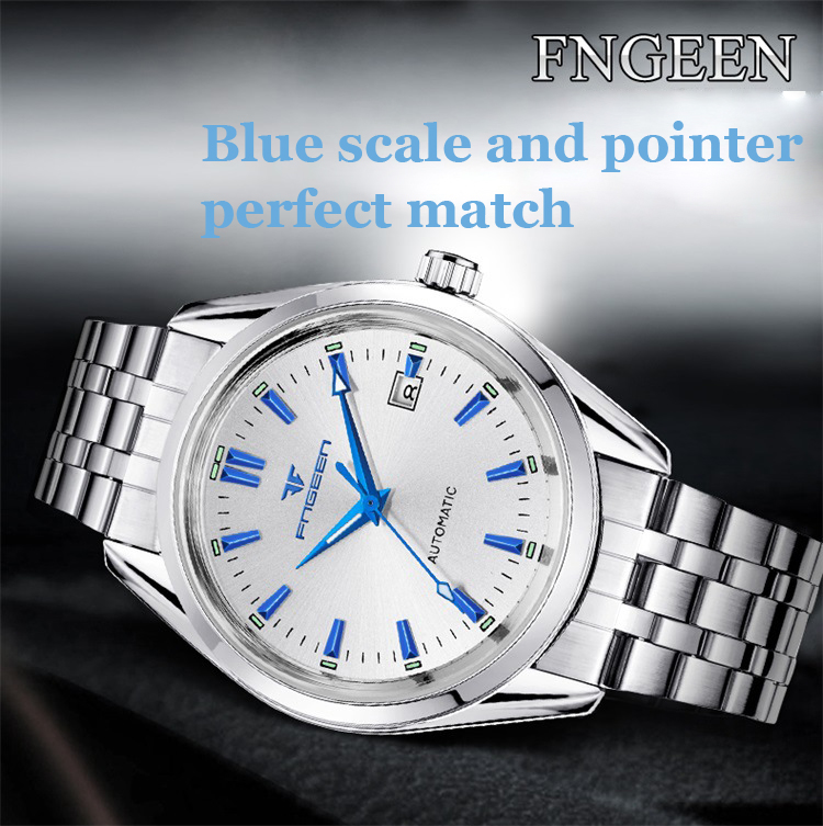 HTB12umzX8Gw3KVjSZFwq6zQ2FXa2 2019 Mens Wrist Watch Top Brand Luxury Watches Male Luminous Calendar Waterproof Stainless Steel Automatic Mechanical Wristwatch
