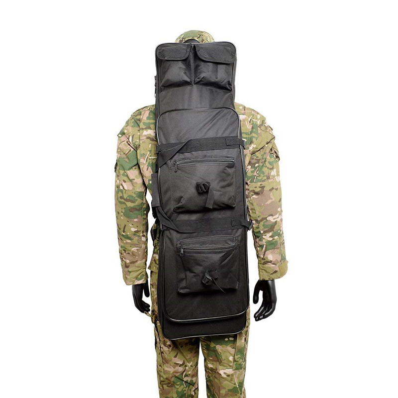 120cm Taktisk Jakt Ryggsekk Dual Rifle Square Carry Bag med skulderrem Gun Protection Case Ryggsekk