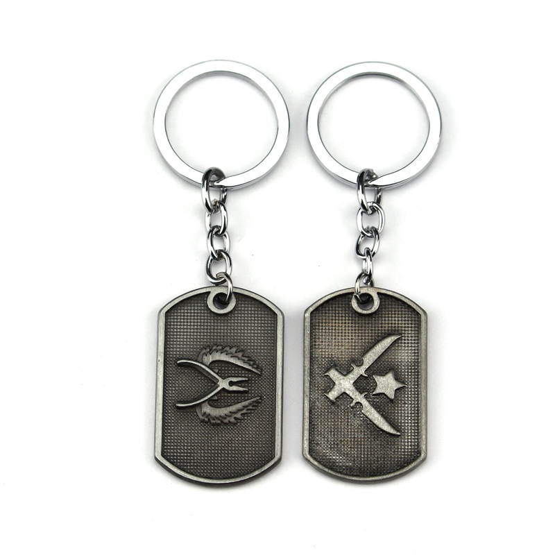 New Counter Strike <font><b>Cs</b></font> Go Metal <font><b>Keychain</b></font> Dog Tag Pendant Key Holder CSGO Collier Jewelry Theme of The Game Series image