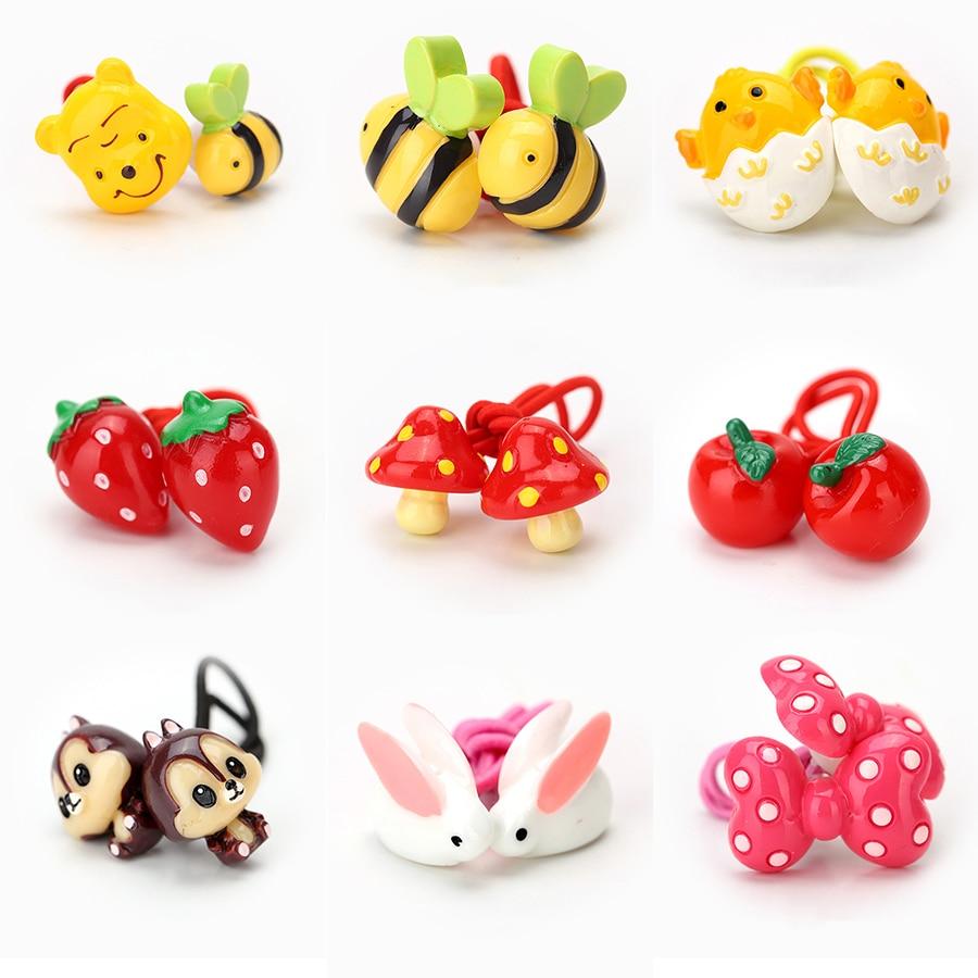 Newly Design Children's Hair Accessories Headwear Elastic Hair Bands Cute Cartoon Animal Baby Headdress Girls Hair Rope