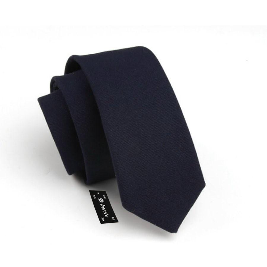 Мужские хлопчатобумажные Галстуки Новые однотонные темно-синие тонкие узкий галстук мальчишник бизнес галстук SK710
