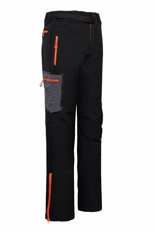 New Warm Winter Men Soft Shell Pants Waterproof Pants Fleece Windproof Skiing Trousers 1613