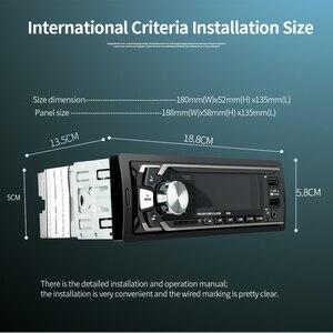 Image 5 - 12 V הכפול USB אלחוטי לרכב משולב רכב FM/TF כרטיס/AUX/MP3 רדיו נגן ידיים קורא תשלום מהיר מטען לרכב ערכה