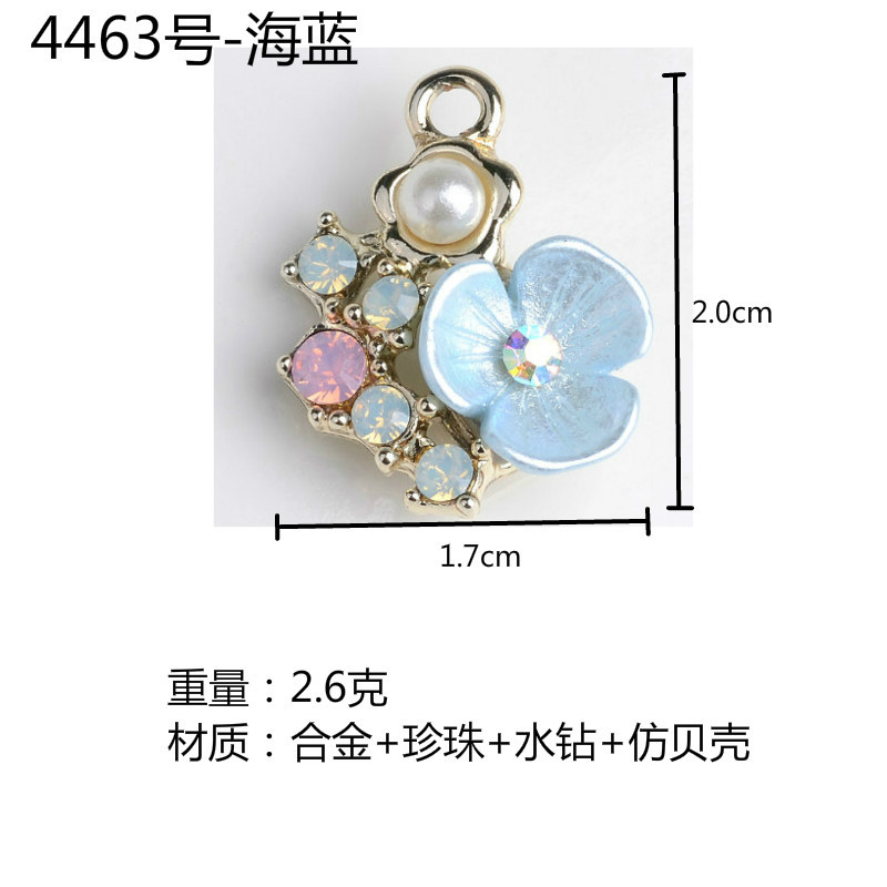 Image 3 - Wholesale 50PCs Imitation Crystal Pearl Alloy Flower Charm Pendants for Girls Ornament Accessories Fashion Jewelry DIY-in Charms from Jewelry & Accessories