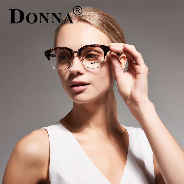 b8da109c91 Donna New Prescription Eyewear Frames Union Club Master Half Metal Black  Gold For Men Womens Eyeglass