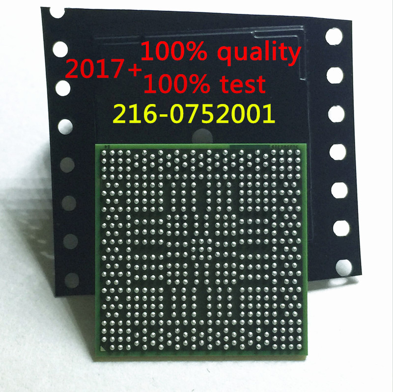 free shipping 2PCS 216-0752001 216 0752001 DC2017+ refurbished test good quality 100% with 95% new appearance with chipset