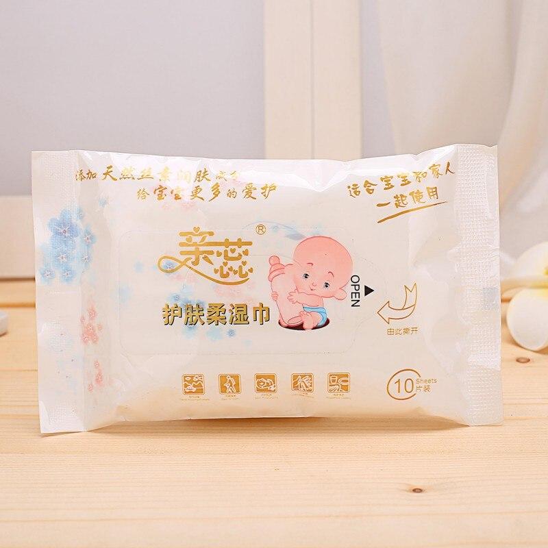 10 шт. детские влажные салфетки для рук открытый Портативный салфетки для ухода за ребенком