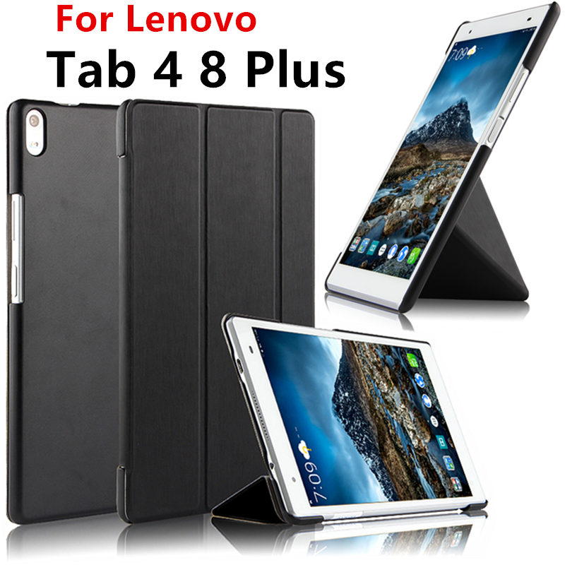 For Lenovo Tab 4 8 Plus Case Smart Cover tab4 8 plus 8.0 inch 8plus Case Protective Protector Leather TB-8704F TB-8704N Tablet