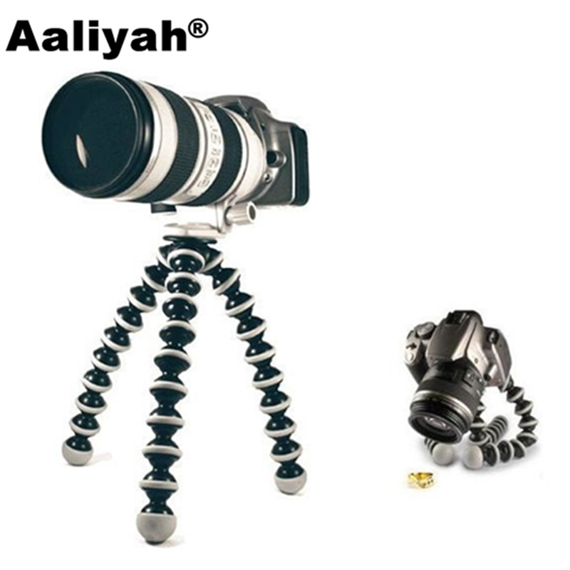 Aaliyah Large Octopus Flexible Tripod Stand Monopod Gorillapod for phone Gopro Hero 4/ 3 Mobile Phone dslr and camera Table Desk fosoto medium octopus flexible digital camera stand gorillapod monopod mini tripod with holder for gopro hero 2 4 3 3 and phone