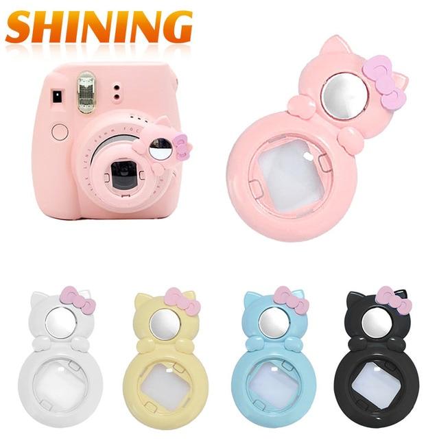 e71015197 Fujifilm Instax Mini 7s 8 Close Up Lens Hello Kitty Self portrait Mirror  For Mini 7s 8 Camera Pink Yellow Blue White-in Camera/Video Bags from  Consumer ...