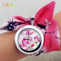 Shsby new unique ladies flower cloth wristwatch fashion women dress watch high quality fabric watch sweet.jpg 200x200