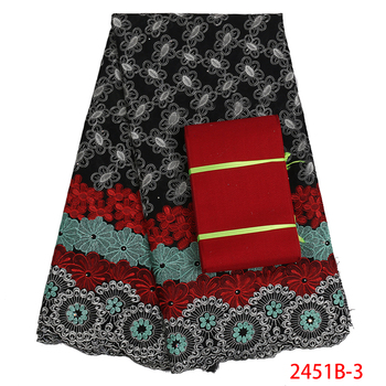 African Dry Lace Fabrics High Quality For Woman Afriend Swiss Voile With Stone Swiss Voile Lace In Switzerland Aso Oke PGC2451B