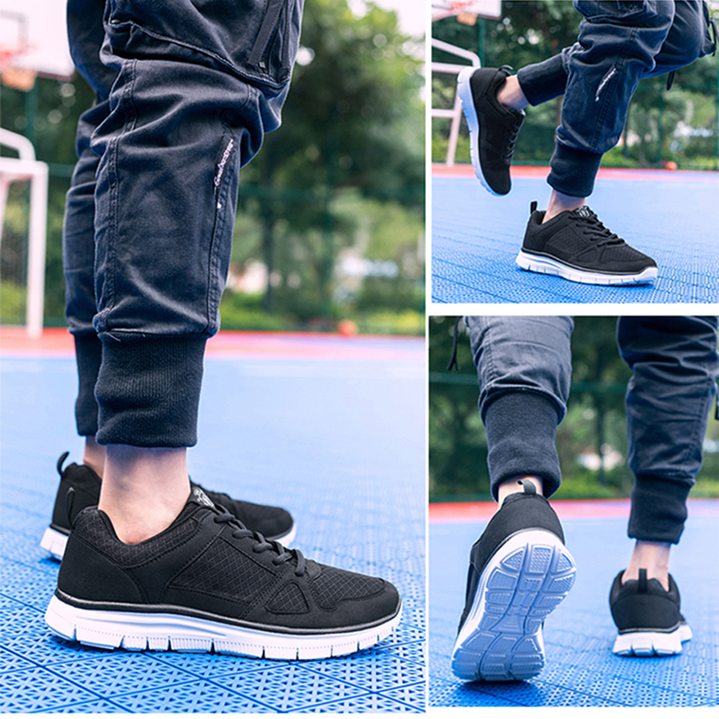 2019 New Plus Size 40-50 Men Casual Shoes For Autumn Lightweight Sneakers Mesh Breathable Male Footwear Fashion zapatos hombre