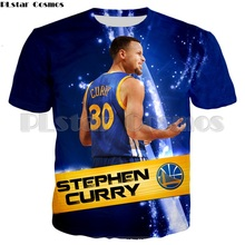 PLstar Cosmos NEW Fashion Men T shirts Warriors Curry 3d shirt Casual Tops Stephen T-shirts Mens Camiseta Clothing