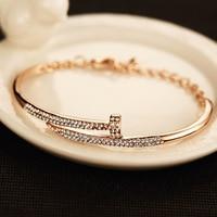 2017 High Quality Carter Love Bracelet Fashion Thick Rose Gold Screw Bracelets For Women Bracelet