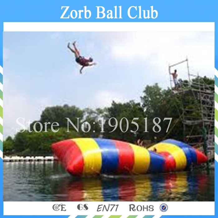 Free Shipping Fascinating Inflatable Blob Jump With 0.9mm Thickness PVC Tarpaulin, Jumping Pillow, Water Air Bag commercial inflatable water slide with pool made of pvc tarpaulin from guangzhou inflatable manufacturer