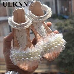 Фиолетовый розовый белый обувь для детей девочек туфли принцессы Мода для девочек сандалии детские дизайнерская простая обувь новые летни...