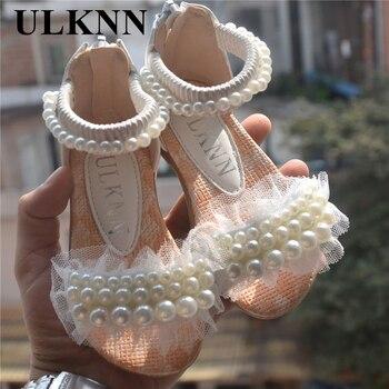 PURPLE PINK WHITE Children Shoes Girls  Princess Shoes Fashion Girls Sandals Kids Designer Single Shoes Summer New Girls Sandals