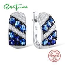 SANTUZZA أقراط فضة للنساء 925 حلَق من الفضّة الاسترليني فضية 925 بالحجارة زركون مجوهرات brincos