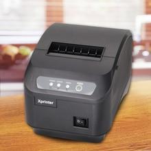 Envío libre pos billete impresora térmica de recibos de 80mm, impresora de código de barras automático cortador de la impresora térmica de recibos puerto USB