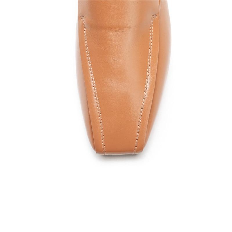 Talons Carré Bloc Printemps 2019 Pompes Coudre Cuir Bout Jaune Noir Faible Chaussures Véritable Femmes Mode Talon Noir En Chunky Ymechic jaune Mocassins À wqXaAa