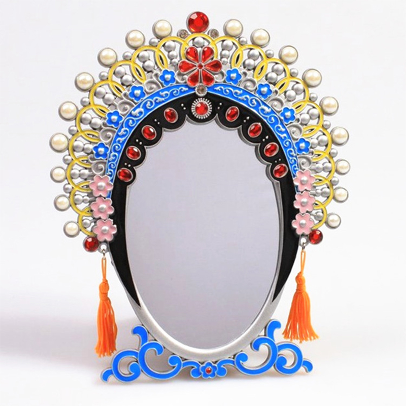 Ay Tsao Store Chinese Peking Opera mask big imperial concubine mirror bride mirror classic large table dresser retro makeup mirror stand gift