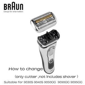 Image 5 - Braun Afeitadora eléctrica de 92s, Serie 9 hoja de afeitar, Cassette de cabezal de repuesto de lámina y cortador, 9030s, 9040s, 9050cc, 9090cc, 9095cc