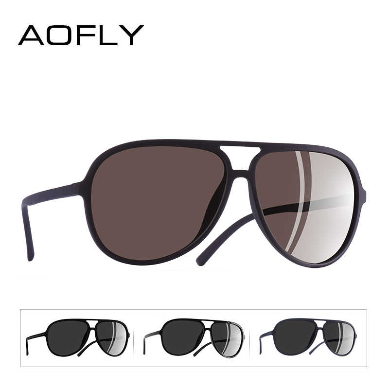 2149d15441f ... AOFLY BRAND DESIGN Ultralight TR90 Pilot Sunglasses Men Polarized  Driving Sun glasses Male Outdoor sports Goggles ...