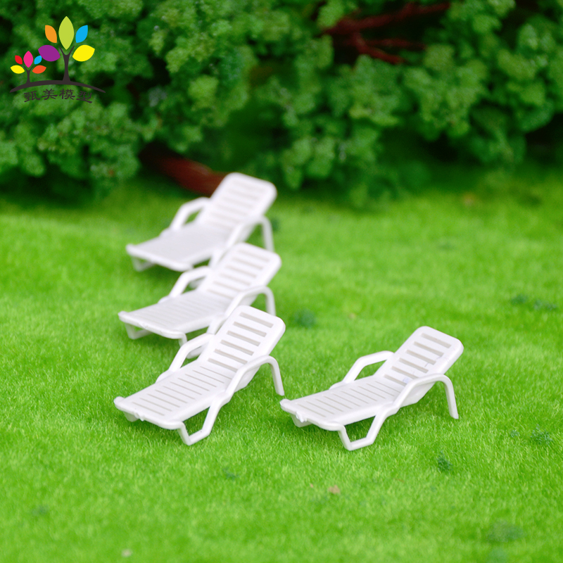 10 Pieces/lot 1: 50 DIY Outdoor Beach Layout Beach Chair Model Plastic Lounge Chair