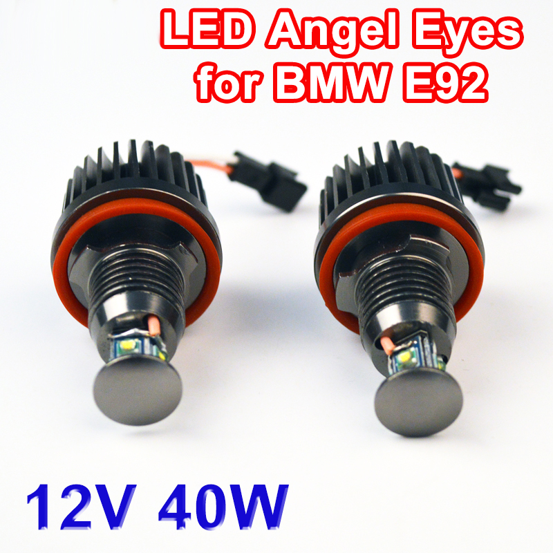Flytop 2x20W 40W LED Angel Eyes H8 Marker for CREE LED Chips 7000K XENON White for BMW E92 E63 E64 E81 E82 E87 E88 E90 E91 E93