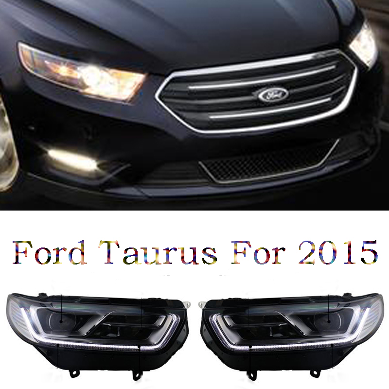 Free shipping ! HID Rio LED headlights headlamps HID Hernia lamp accessory products For Ford Taurus 2016 free shipping hid rio led headlights headlight headlamps hid hernia lamp accessory products for great wall haval h3 2005 2010